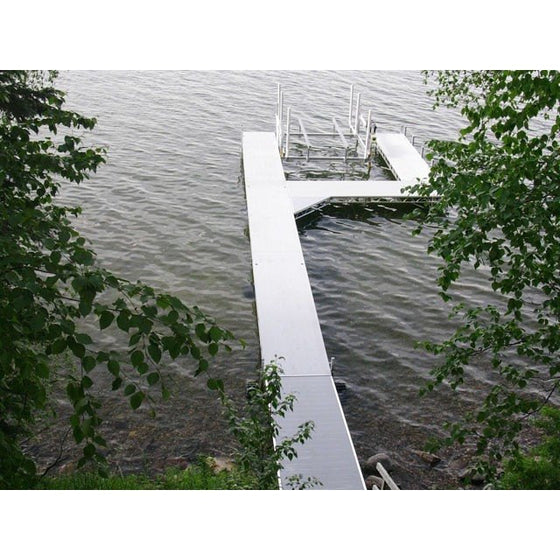 FLOE Roll In Dock Section 6' x 12' Aluminum - Wakeboss