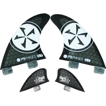 Phase Five 3.7 Quad Wakesurf Fin Set - Wakeboss
