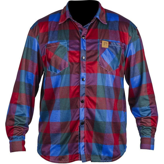 Ronix Higgie Smalls - Quick Dry Long Sleeve Riding Jersey - Red Plaid - Wakeboss