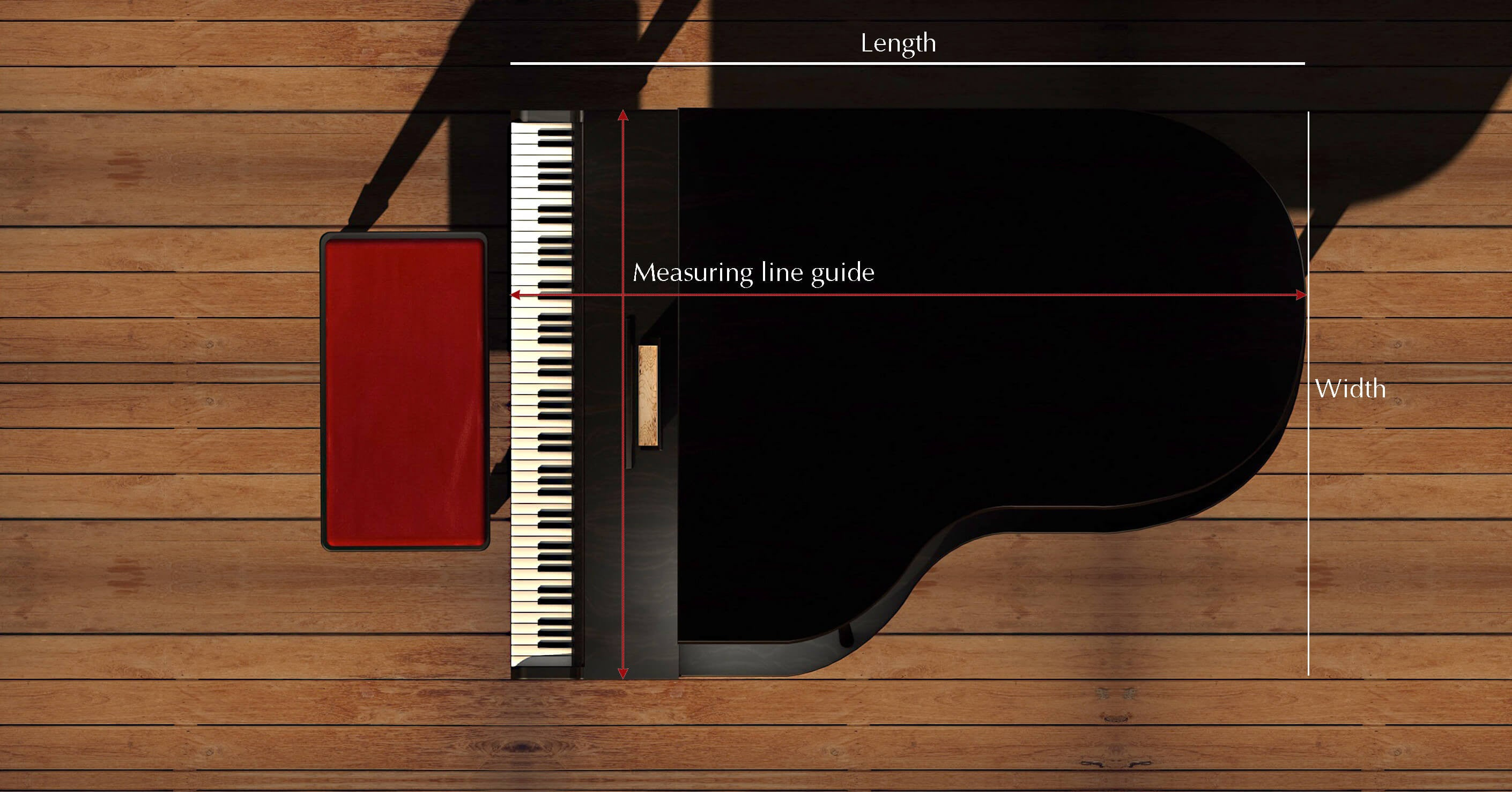 How to measure a grand piano insturctions