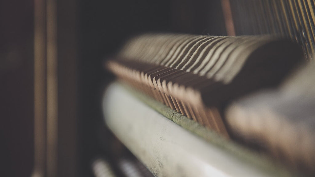 Dusty piano interior