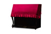 upright piano cover in red velvet by clairevoire