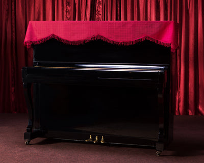 piano top dust cover by clairevoire classic red