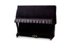 Upright piano cover in black velvet by clairevoire main picture