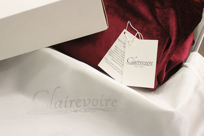 Clairevoire Grandeur: Classic Premium Velvet Grand Piano Cover for Yamaha [Classic Wine] in box