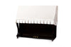 Upright piano cover in off-white velvet by clairevoire