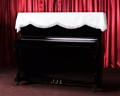 piano top cover in white clairevoire