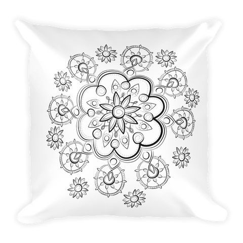 Square Pillow | Floral Mandala