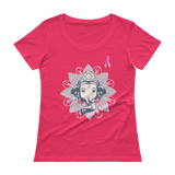 Pink October Ganesha Ladies' Scoopneck T-Shirt