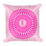 Pink October Mandala | Square Pillow