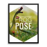 Framed Photo Paper Poster | Bhekasana Frog Pose