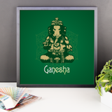 Framed Photo Paper Poster | Ganesha