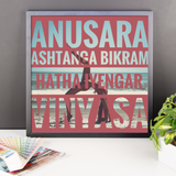 Framed Photo Paper Poster | Yoga Styles