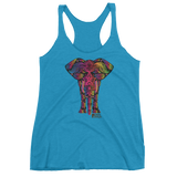 Elephant Women's Tri-blend Tank Top