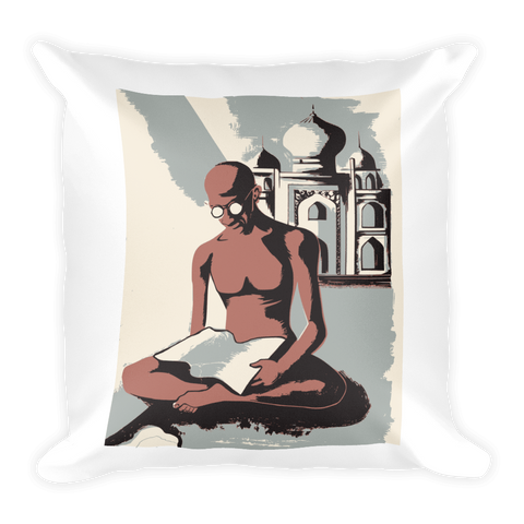Square Pillow | Gandhi