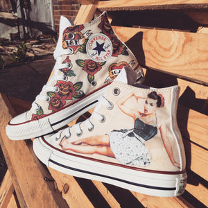 Vintage Pin Up 50s Custom Converse