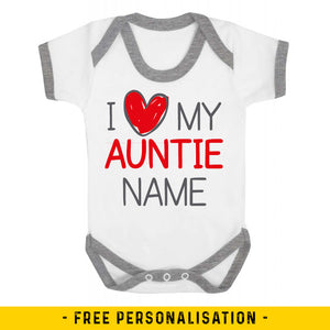 I Love My Auntie Personalised Baby Vest