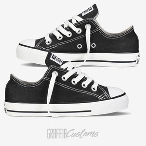 Low Top Converse - Kids - Black - ready to be printed on