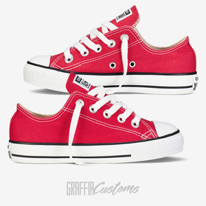Low Top Converse - Kids - Red - ready to be printed on
