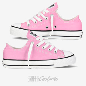 Low Top Converse - Kids - Pink - ready to be printed on