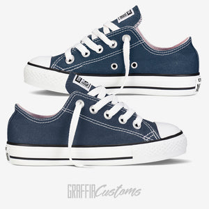 Low Top Converse - Kids - Navy - ready to be printed on