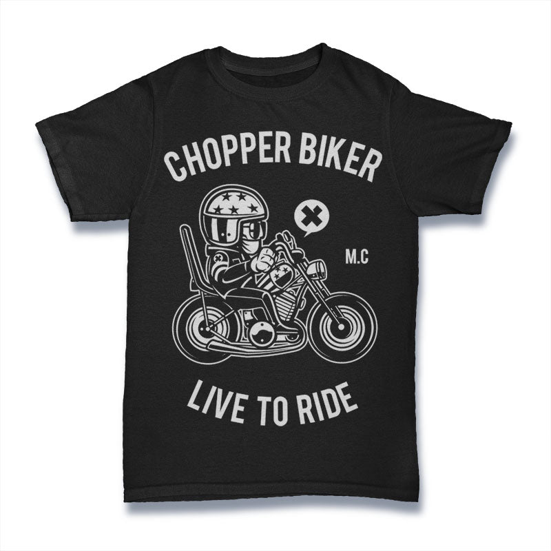 Chopper Biker - Mens T-Shirt