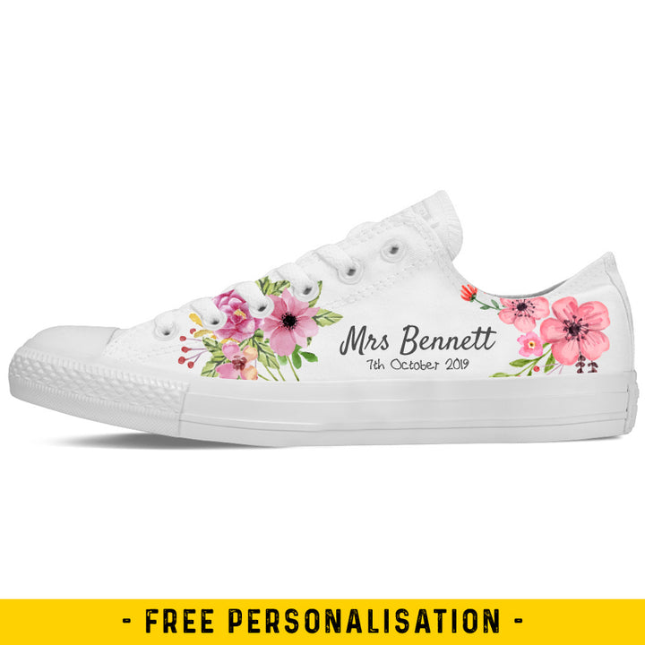 Floral Wedding Converse Low Tops