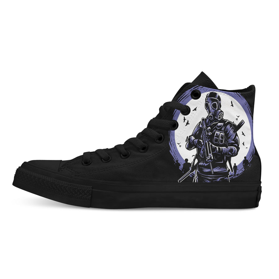 Gas Mask Soldier - Custom High Tops