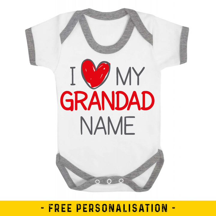 I Love My Grandad Personalised Baby Vest