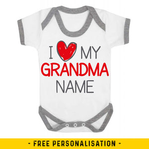 I Love My Grandma Personalised Baby Vest