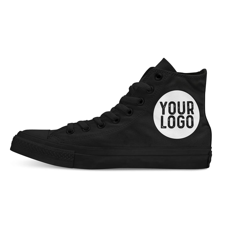 Your Logo Custom High Tops - Black