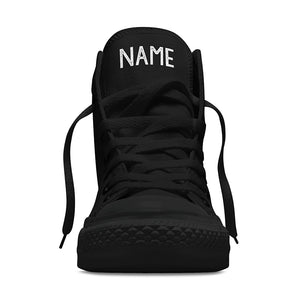 Your Name Custom High Tops - Black