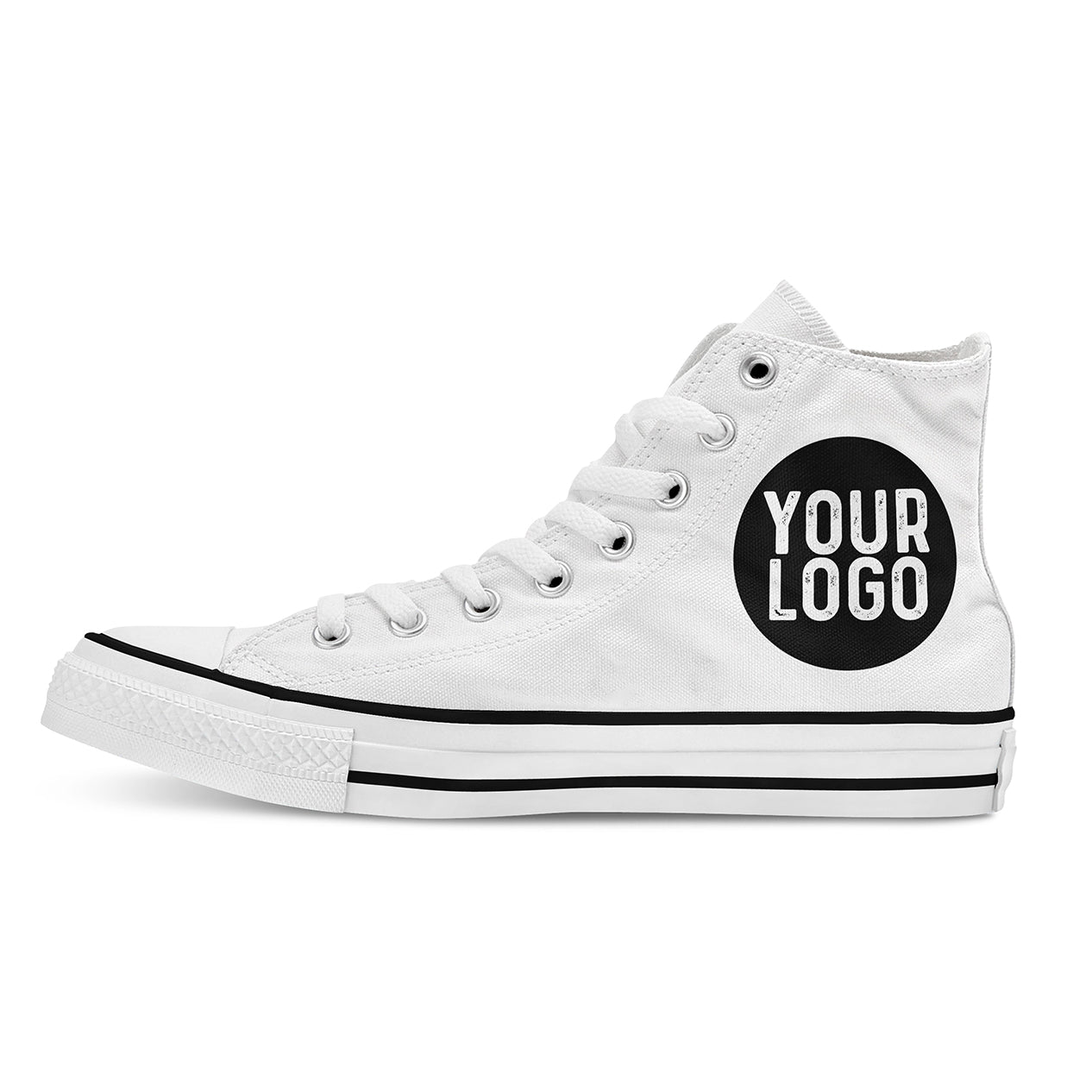 Your Logo Custom High Tops - White