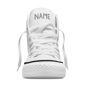 Your Name Custom High Tops - White