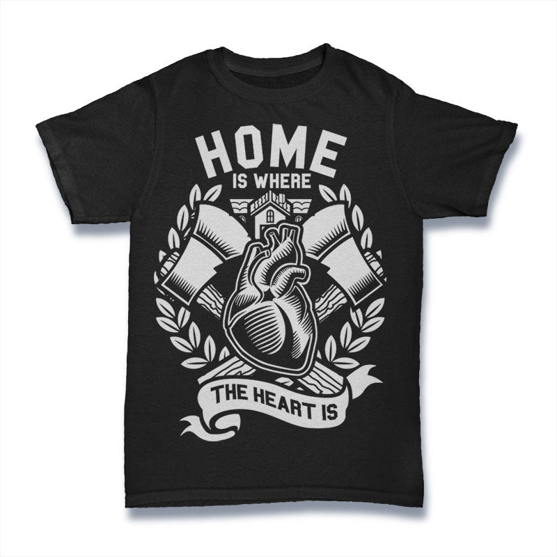 Home Is Where The Heart Is - Mens T-Shirt