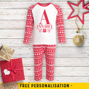 Personalised Christmas Name Pyjamas