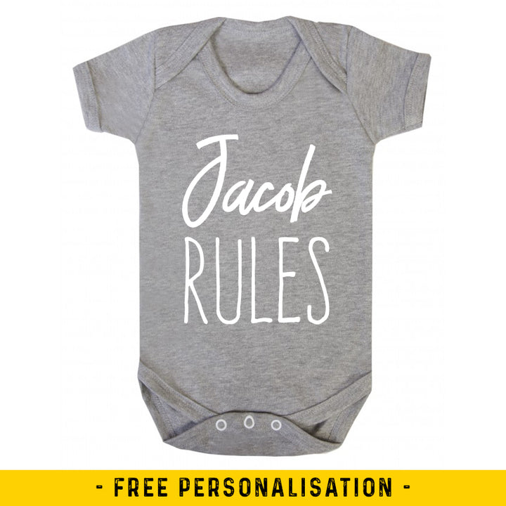 Name Rules - Personalised Baby Vest