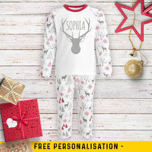 Personalised Reindeer Pyjamas
