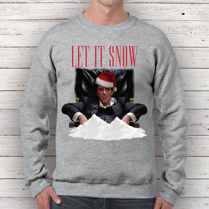 Scarface Let It Snow Christmas Sweatshirt Graffia Customs