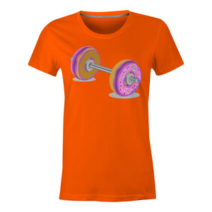 Donut Barbell - Ladies T-Shirt