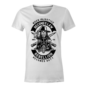 Rebellion Becomes Duty - Ladies T-Shirt
