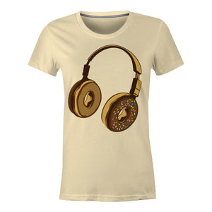 Headphone Donut - Ladies T-Shirt