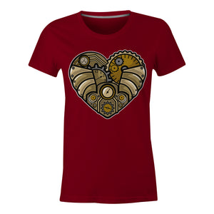 Steampunk Heart - Ladies T-Shirt