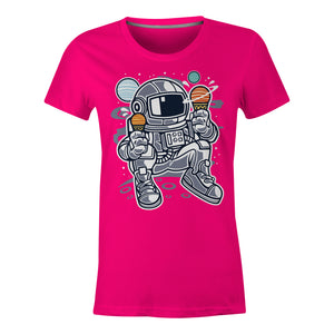 Astronaut Ice Cream - Ladies T-Shirt