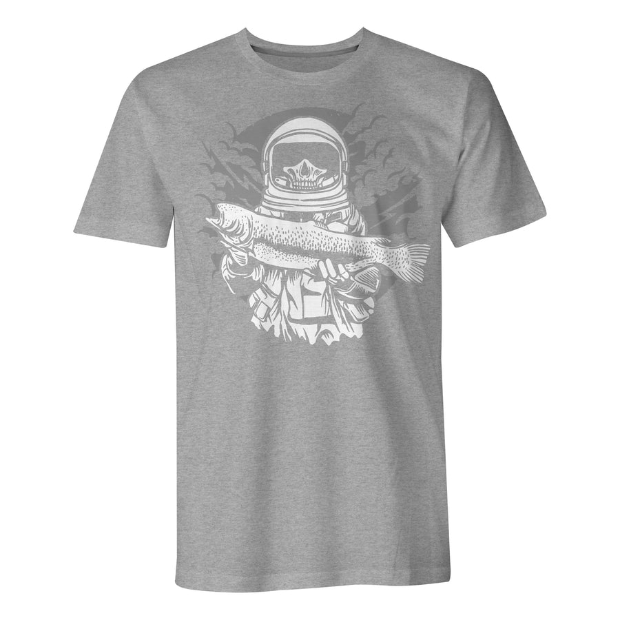 Astronaut Fishing - Mens T-Shirt