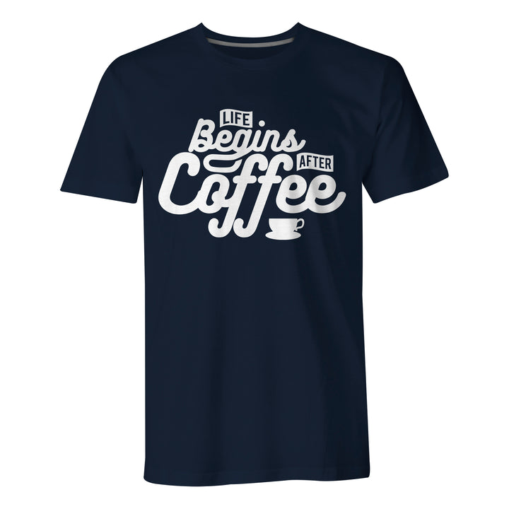 Life Begins After Coffee - Mens T-Shirt