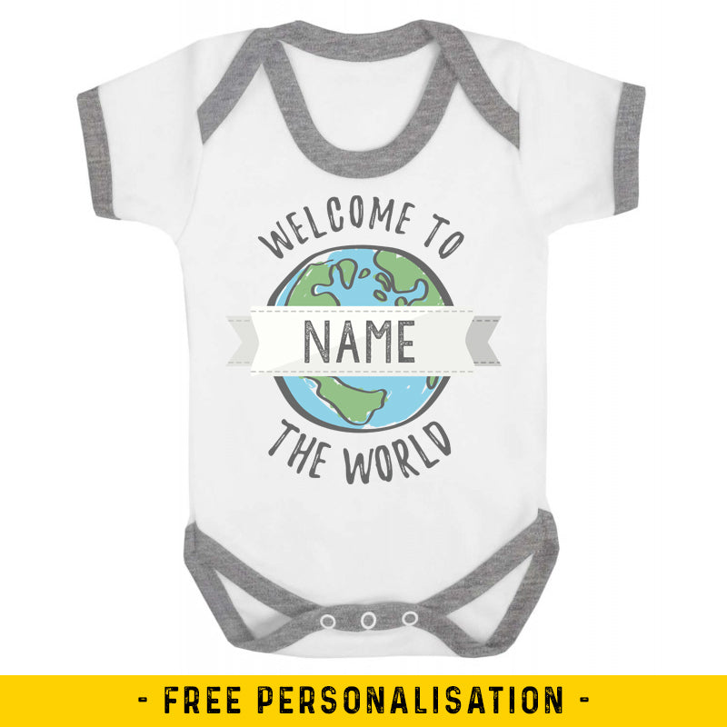 Welcome to the World - Personalised Baby Vest