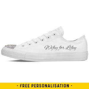 Wifey for Lifey Wedding Converse Low Tops