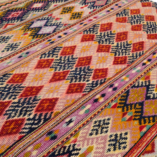 Ait Ouaouzguite Silk Tribal Art Rug
