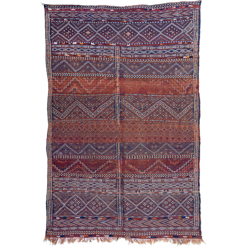 Antique Beni Mguild Tribal Rug